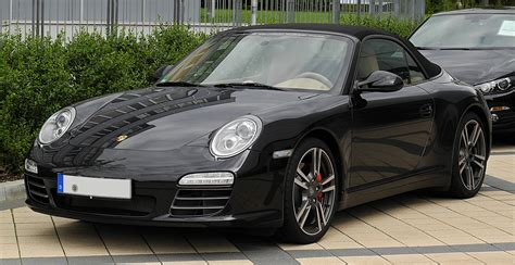 porsche 911 convertible black file porsche 911 cabriolet black edition 997 facelift