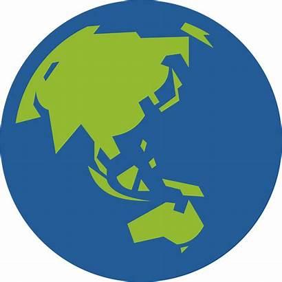 Globe Earth Asia Icon Australia Clipart Vector