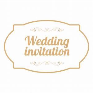 wedding invitation badge 3 transparent png svg vector With wedding invitation sample png