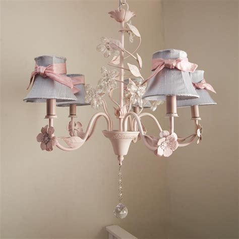 crystal flower chandelier  shades  sashes