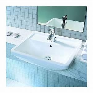 vasque semi encastree starck 3 With salle de bain design avec vasque semi encastrable duravit