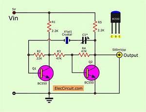Transistor Crystal Oscillator Circuit Ideas