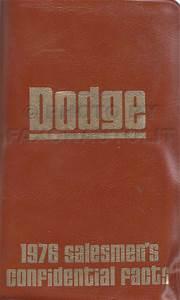 1976 Dodge Plymouth Van Repair Shop Manual Sportsman