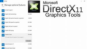 How To Install Directx Graphics Tools In Windows 10 Tutorial