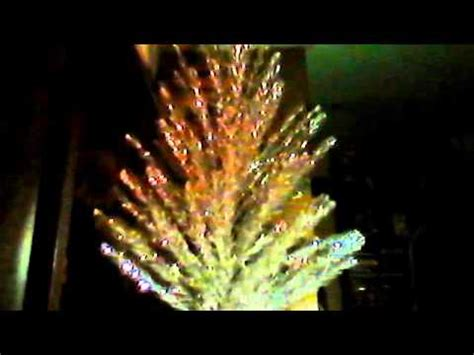 tree of light song aluminum tree from 60s with rotating stand light electric and