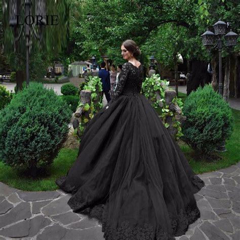 2017 Vintage Lace Black Wedding Dresses Vestidos De Novia