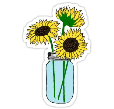 'Sonnenblumen im blauen Glas' Sticker von lolo dottie ...