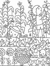 Coloring Garden Pages Flower Gardening Colouring Gardens Vegetable Printable Secret Hubpages Preschool Vegetables Sheets Drawing Fall Flowers Hsanalim Adult Spring sketch template
