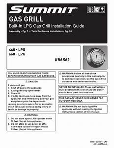 Summit Gas Grill Installation Guide By R  Mcdonald Weber
