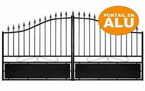 Portail En Aluminium : portail en aluminium gamme eco mod le 1 leferronnier ~ Melissatoandfro.com Idées de Décoration