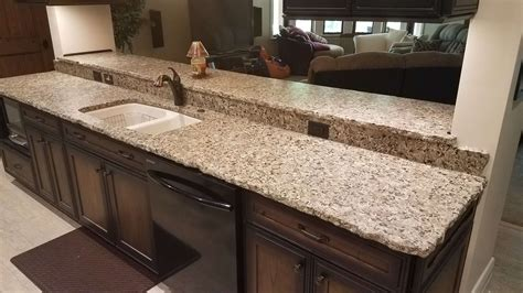 beige butterfly granite with chiseled edge reflections