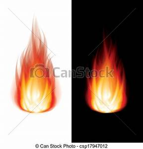 Vector Clip Art of Fire black and white background vector ...