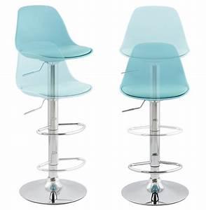 Chaise De Bar Bleu : chaise de bar r glable bleu ciel ocean ~ Teatrodelosmanantiales.com Idées de Décoration