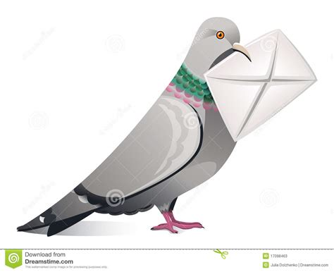 msn lettere pigeon with letter stock photos image 17098463