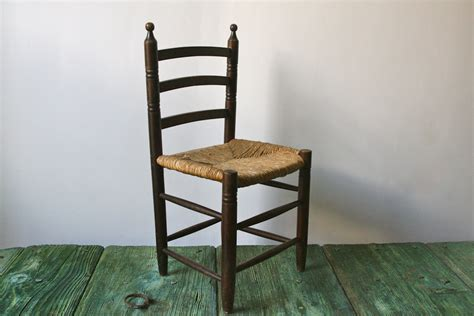 italian children s wooden chair with wicker seat by