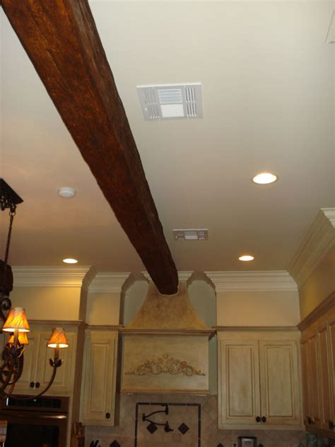 Decorative Crown Molding by Blending Beams With Crown Molding Faux Wood Workshop