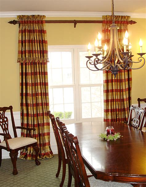 size of dining room curtains ideas photograph