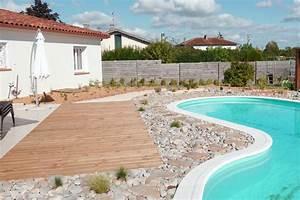 realisation paysagere de burgniard paysage jardin With amenagement tour de piscine 15 galerie photos tour de piscine jardin mineral bassin