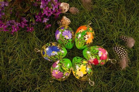 6 Bunte Ostereier Mit Blumendekor Ca. 5 Cm Im Sparset