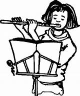 Flute Coloring Player Cool Wecoloringpage sketch template