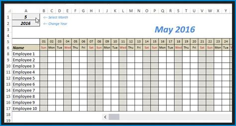 editable monthly schedule template excel templateral