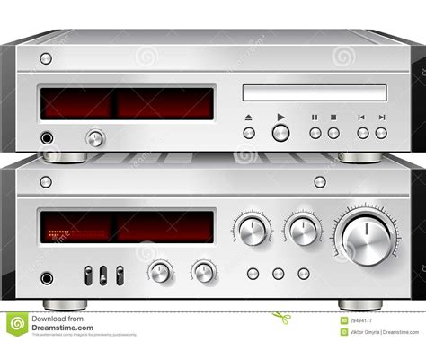 Music Stereo Audio Compact Disc CD Player With Amplifier ...