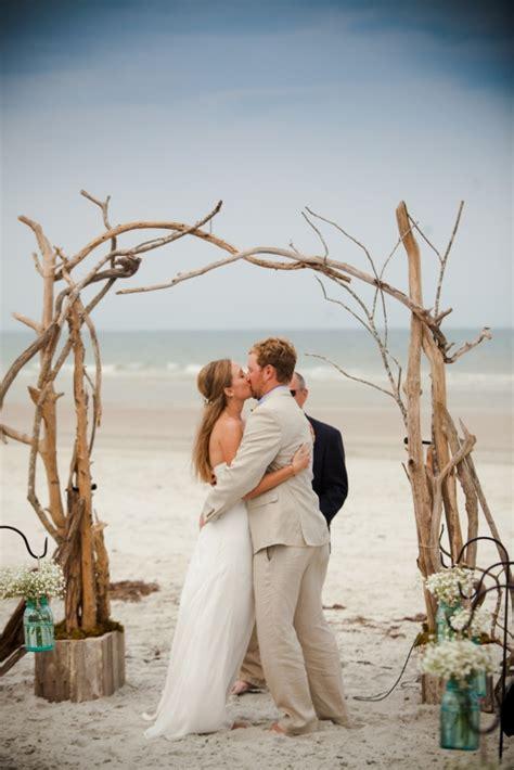 Driftwood Arbor Rustic Beach Ceremony We Celebrated