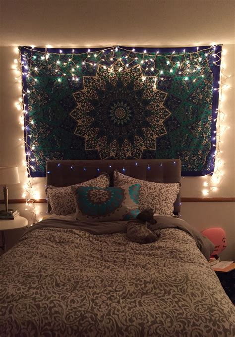 Lights For Room Decoration - tapestry with icicle lights bedroom bedroom decor