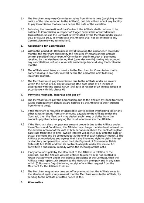 Affiliate terms and conditions (standard) - Docular