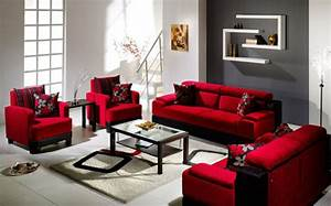 Luxurious living room ideas dark red sofa with amazing for Luxurious red sofa design ideas