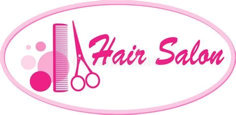 hair salon signboard  scissors  comb stock vector illustration  lady logo
