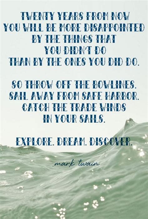 Mark Twain Dream Discover Quote