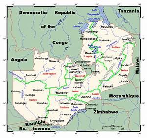 Political map of Zambia. Zambia political map | Vidiani ...