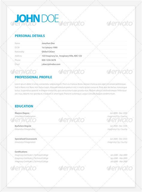 Clean Modern Resume Design by 37 Stylish Resume Templates Vandelay Design