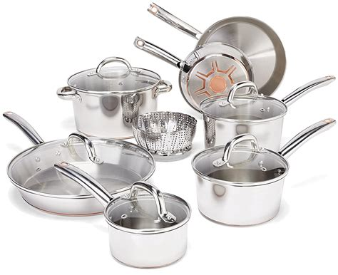 cookware sets steel fal pots pans pan pot stainless silver check amazon anodized ceramic hard piece