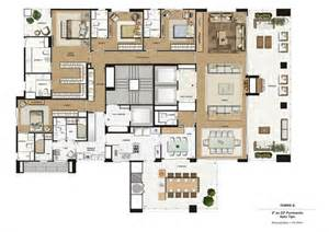 luxury residential apartment for sale in sao paulo brazil - 4 Br House Plans