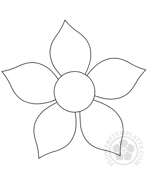 printable flower template cut out flower cutout printable flowers templates