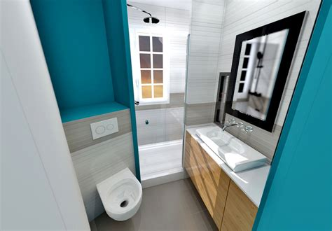 si鑒e de salle de bain aménagement gain de place suppression couloir pour cuisine petit appartement
