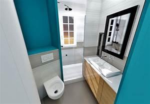 Amenagement gain de place suppression couloir pour cuisine for Salle de bain annee 50