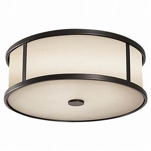 The Satchmo Drum Flush Mount Glass Drum Lighting