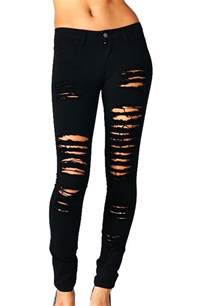 fotos high heels ripped jeans skinny jeans black white