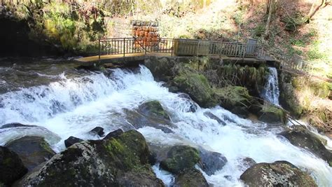 Famous Triberg Waterfalls In The Black Forest, The Highest