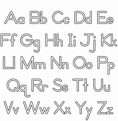 Alphabet Coloring Case Upper Letters Printable Lower