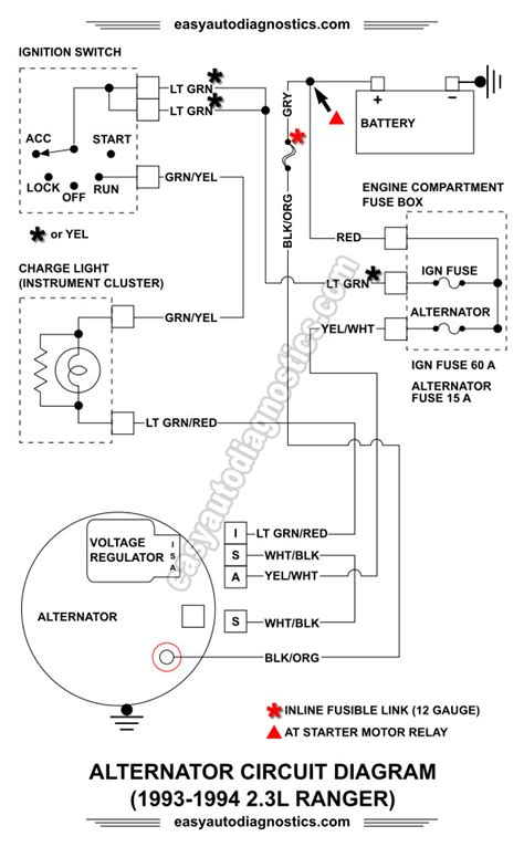 Wiring Diagram For A 1996 Ford Mustang 3 8 by Part 2 1992 1994 2 3l Ford Ranger Alternator Wiring Diagram