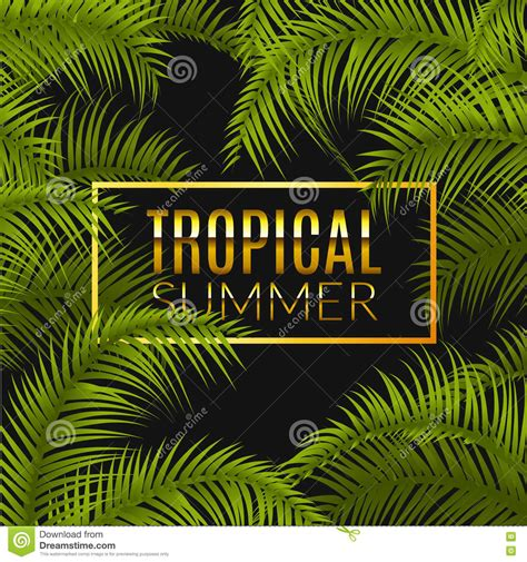 tropical poster template tropical summer design poster template summer vacation