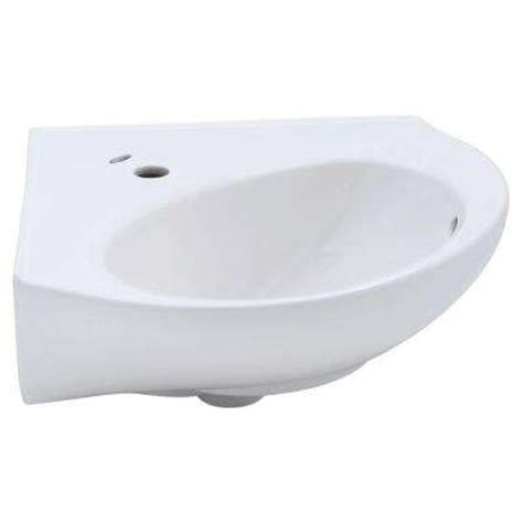 Corner Bathroom Sinks Home Depot by Wall Mount Sinks Bathroom Sinks The Home Depot