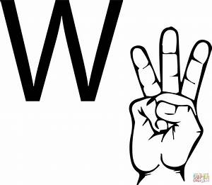 86 coloring pages sign language alphabet asl for i for Letter a sign