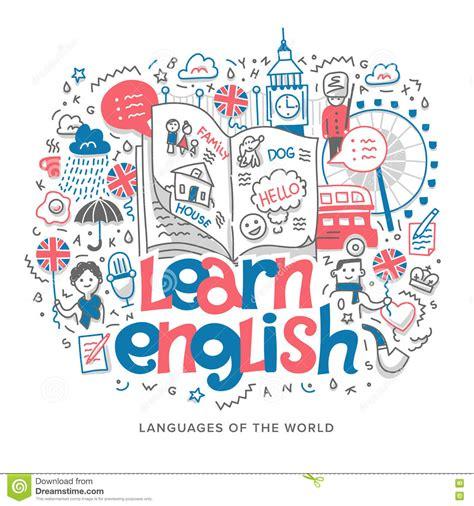 learn english concept illustration stock vector