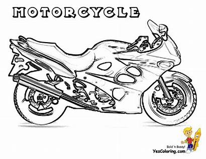 Coloring Motorcycle Motorcycles Cool Pages Boys Sheets