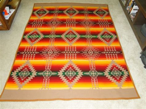 Vintage Pendleton Wool Blanket Shop Collectibles Online Daily Bernat Free Knitting Patterns Baby Blankets Baptism Crochet Blanket Stitch Pattern Pine Cone Hill Pig And A Cashmere Sale Stroller Southpaw Weighted
